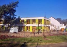 Das Außengelände der neuen Kindertagesstätte Klein Herl